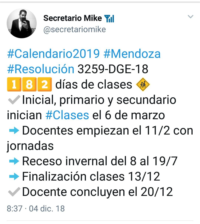 tuit clases 2019