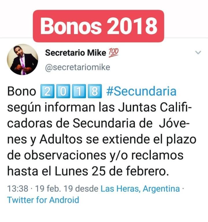 BONO 2018 PRORR